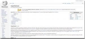 Hyperhidrosis - Wikipedia, the free encyclopedia